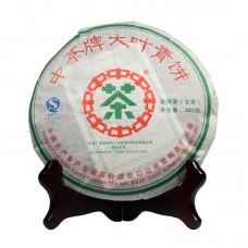 2007, Большой лист, 380 г/блин, шэн, ч/ф Чжунча
