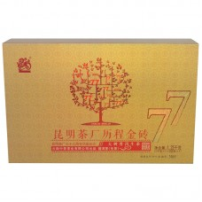2016, 77-летний юбилей, 1,25 кг/коробка, шэн, ч/ф Чжунча