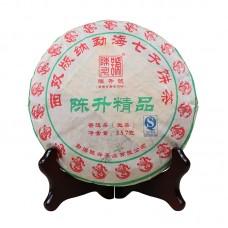 2012, Отборное сырьё, 357 г/блин, шэн, ч/ф Чэньшэн Хао
