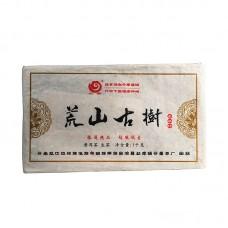 2017, Маншань. Древние деревья, 1 кг/кирпич, шэн, ч/ф Юньчжан