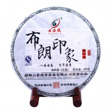 2012, Впечатление от Буланшаня, 400 г/блин, шэн, ч/ф Юньюань Хао