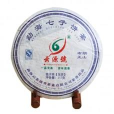 2012, Буланшань оригинальный, 357 г/блин, шэн, ч/ф Юньюань Хао