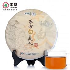 2014, Луноликая красавица (5905), 357 г/блин, белый чай, ч/ф Чжунча