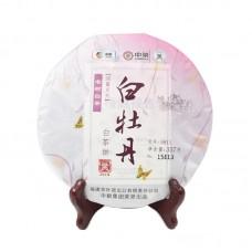 2018, Баймудань, 357 г/блин, белый чай, ч/ф Чжунча