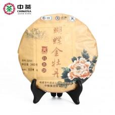 2015, Золотой пион (5303), 360 г/блин, белый чай, ч/ф Чжунча