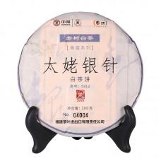 2018, Серебрянные иглы (5912), 200 г/блин, белый чай, ч/ф Чжунча