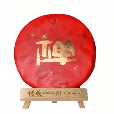 2019, Дзен, горный шоумэй, 300 г/блин, белый чай, ч/ф Чуаньчэн