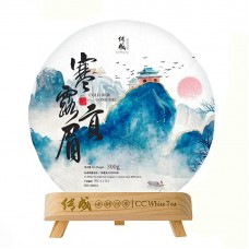 2021, Фудинский иней, гунмэй, 300 г/блин, белый чай, ч/ф Чуаньчэн