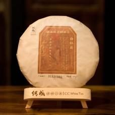 2017, 9318, Баймудань класс особый, стар.деревья, 300 г/блин, белый чай, ч/ф Чуаньчэн