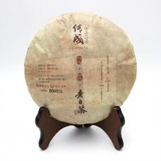 2010, Шоумэй весенний, 256 г/блин, белый чай, ч/ф Чуаньчэн