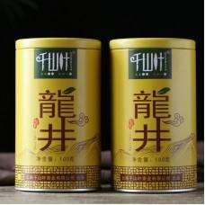2018, Лунцзин, 100 г/банка, зелёный чай, ч/ф Цяньшань Е