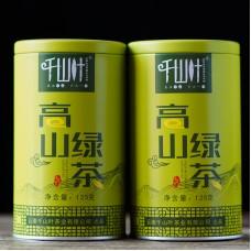 2018, Высокогорный, 125 г/банка, зелёный чай, ч/ф Цяньшань Е