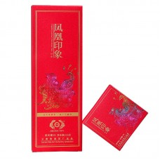 2019, Красная печать, 216 г/коробка, красный чай, ч/ф Дэфэн