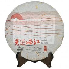 2015, Цзинмайшанец, 388 г/блин, красный чай, ч/ф Машиши