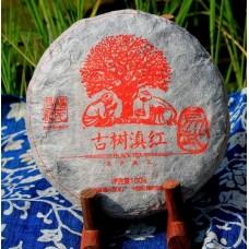 2013, Дяньхун с древних деревьев, 100 г/блин, красный чай, ч/ф Фуюань Чан