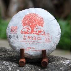2014, Дяньхун с древнего дерева, 100 г/блин, красный чай, ч/ф Фуюань Чан