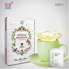 """2015, Зелёный чай (""""Чайный домик""""), 5 г/коробка, смола, ч/ф Мэндунь"""
