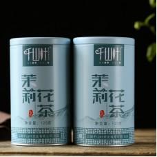 2018, Жасминовый аромат, 125 г/банка, цвет. чай, ч/ф Цяньшань Е