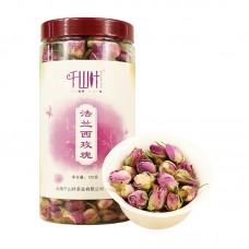 "2017, роза ""Фаланьси"", 100 г/банка, цвет. чай, ч/ф Цяньшань Е"