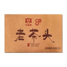 2020, Лао Чатоу, 250 г/кирпич, шу, ч/ф Даи
