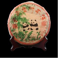 2006, Чай Панды, 357 г/блин, шу, ч/ф Ланхэ