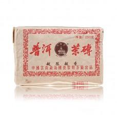 2005, Старый чай, 250 г/кирпич, шу, ч/ф Лимин