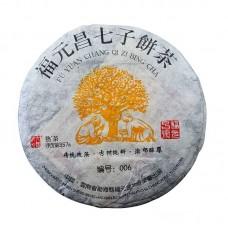 """2012, Сорт """"006"""", Легенды Иу, 357 г/блин, шу, ч/ф Фуюань Чан"""