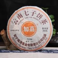 2007, 7598 старый чай, 357 г/блин, шу, ч/ф Хайвань