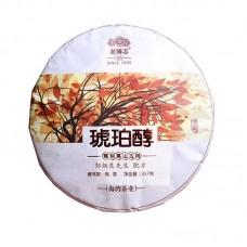 2017, Янтарь чая, 357 г/блин, шу, ч/ф Хайвань