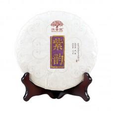 2015, Пурпурный бархат, 357 г/блин, шу, ч/ф Хунпу Хао
