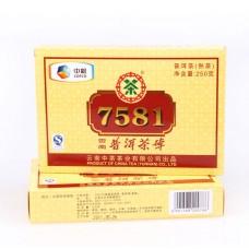 2011, 7581 классический, 250 г/кирпич, шу, ч/ф Чжунча