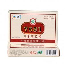 2017, 7581, 250 г/кирпич, шу, ч/ф Чжунча