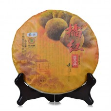 2016, Красный мандарин, 357 г/блин, шу, ч/ф Чжунча