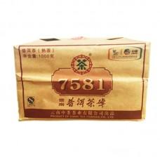 2010, 7581 подарочный, 1 кг/шт, шу, ч/ф Чжунча