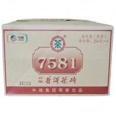 2015, 7581 подарочный, 1 кг/шт, шу, ч/ф Чжунча