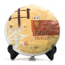 2014, 7451, 357 г/блин, шу, ч/ф Чжунча