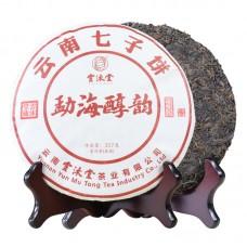 2018, Мэнхайский старец, сырьё 2001 года, 357 г/блин, шу, ч/ф Юньмутан