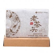 2017, Лао Чатоу, 250 г/коробка, шу, ч/ф Юньнань Колорфул