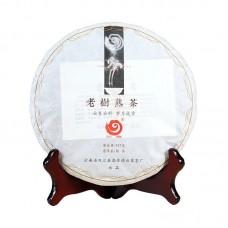 2018, Тонкий аромат, лаошу, 357 г/блин, шу, ч/ф Юньчжан