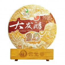 2019, Глубокая ферментация, 357 г/блин, шу, ч/ф Юньюаньгу