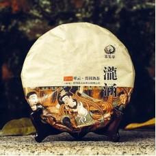 2014, Лунхань. Сырьё деревни Хуачжу Лянцзы (Мэнсун), 357 г/блин, шу, ч/ф Юньюаньгу