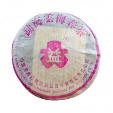 2003, Юньмэй, коллекционный, сухой склад, 357 г/блин, шэн, ч/ф Даи
