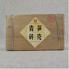 2012, Бамбуковый Лист, 250 г/кирпич, шэн, ч/ф Даи