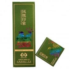 2019, Зелёная печать, 216 г/коробка, шэн, ч/ф Дэфэн