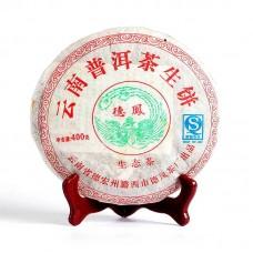 2007, Красный Иероглиф, 400 г/блин, шэн, ч/ф Дэфэн