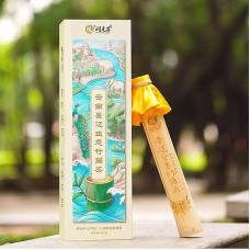 2018, Органический шэн в бамбуке. Цзинмайшань, 357 г/блин, шэн, ч/ф Жуньюань Чан