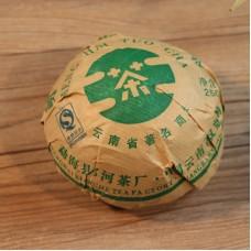 2013, Мэнхайский размер, 250 г/точа, шэн, ч/ф Ланхэ