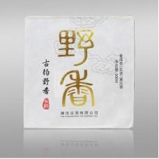 2012, Банвэйский квадрат, дикорос, 500 г/кирпич, шэн, ч/ф Ланьцан Гуча