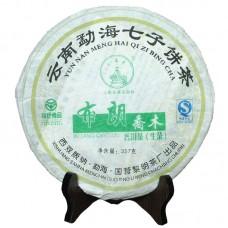 2007, Буланшаньский Прямоствол, 357 г/блин, шэн, ч/ф Лимин