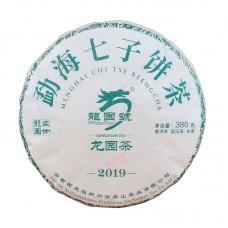 2019, Чай Драконьего сада, 380 г/блин, шэн, ч/ф Лунъюань Хао